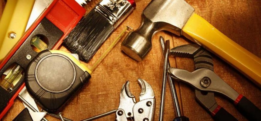 home repair tools hammer screwdriver
