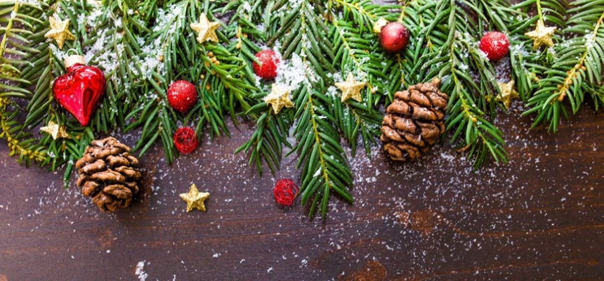 chic holiday decor branches pinecones