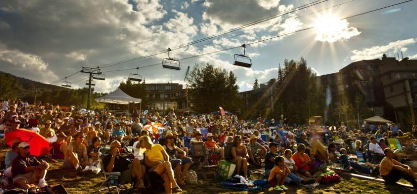 Outdoor concert at Colorado ski resort