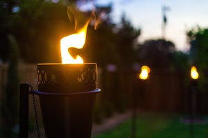 Patio Outdoor Torch Lights Fire