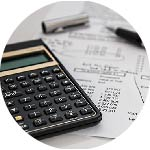 budget calculator with papers