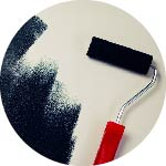 home improvements paint roller painting wall
