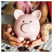 save down payment piggy bank