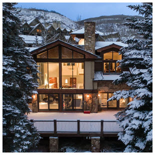 vail luxury ski home windows mountain