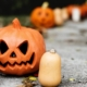 halloween decoration jack-o-lantern pumpkin candles