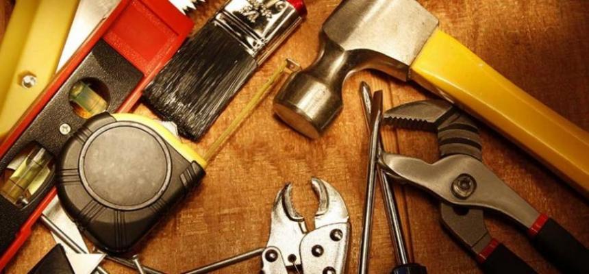 home repair tools hammer screwdriver