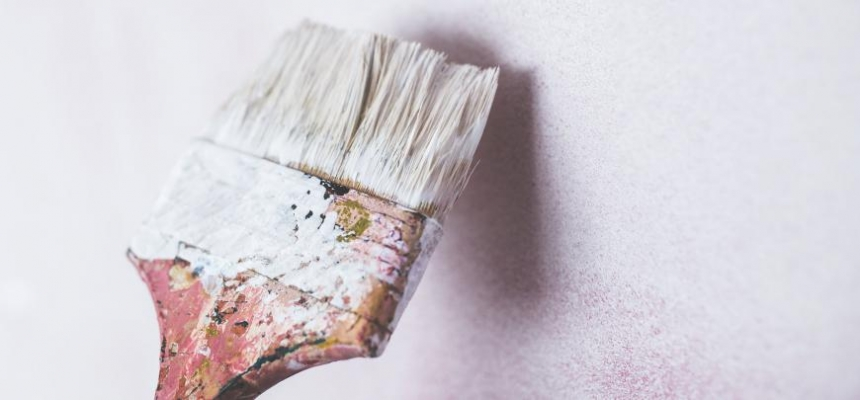 paint brush neutral color DIY home