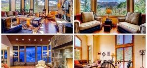 mountain vacation home interior