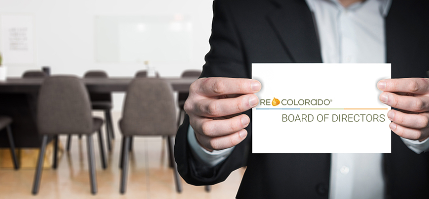 holding card REcolorado board of directors