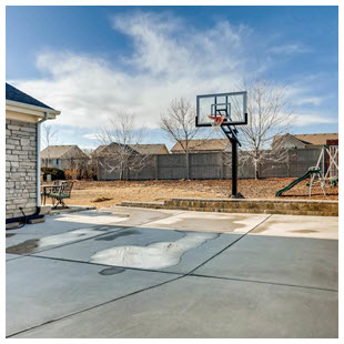 professional grade basketball hoop yard Colorado home