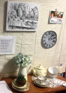 tea set alice wonderland theme office decor
