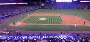 Colorado Rockies Coors Field baseball diamond
