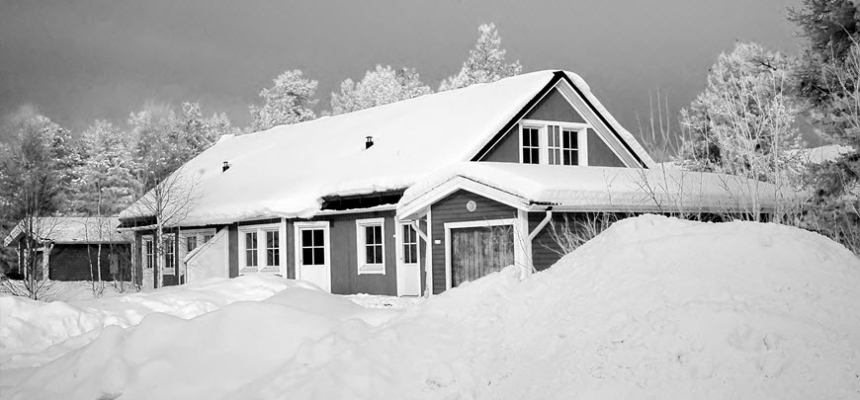 home snow winter black white