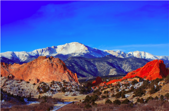 Pikes Peak romantic mountains Colorado