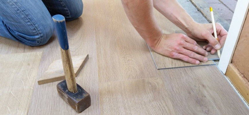 diy flooring house flip