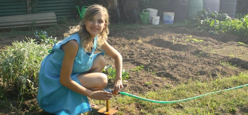 backyard garden diy woman