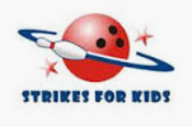 strikes for kids bowling logo